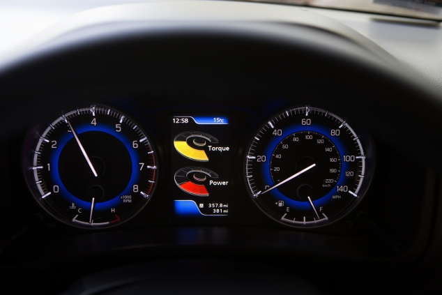 Suzuki Baleno Boosterjet manual SZ5 full road test review Hammond - instruments