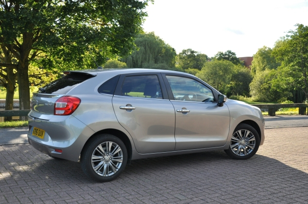 Suzuki Baleno Boosterjet manual SZ5 full road test review Hammond - rear
