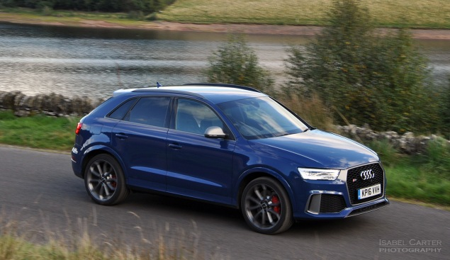 Audi RS Q3 performance road test review photo - front 34