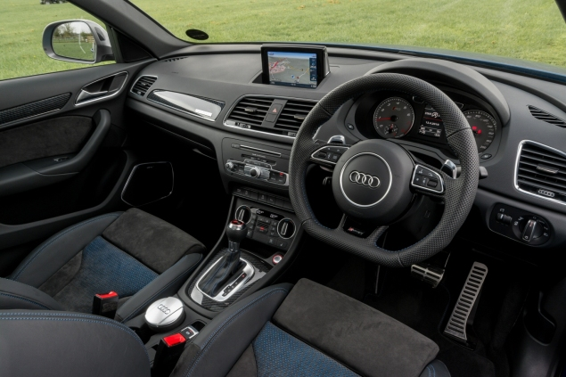 Audi RS Q3 performance road test review photo - interior dashboard