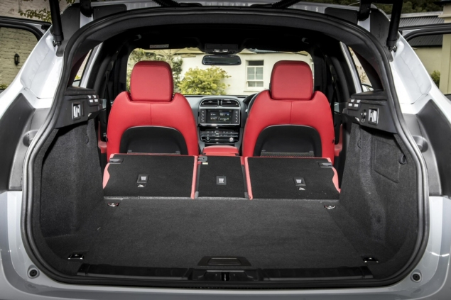 Jaguar F-Pace 2.0d R-Sport AWD road test review photo wallpaper - interior boot seats fold