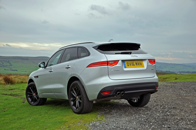 Jaguar F-Pace 2.0d R-Sport AWD road test review photo wallpaper - rear