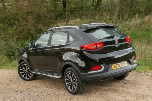MG GS Exclusive manual road test review UK - rear