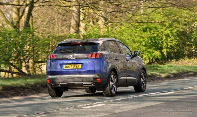 New-Peugeot-3008-crossover-SUV-road-test-review-1.2-petrol-manual-GT-Line-Magnetic-Blue-photo-02