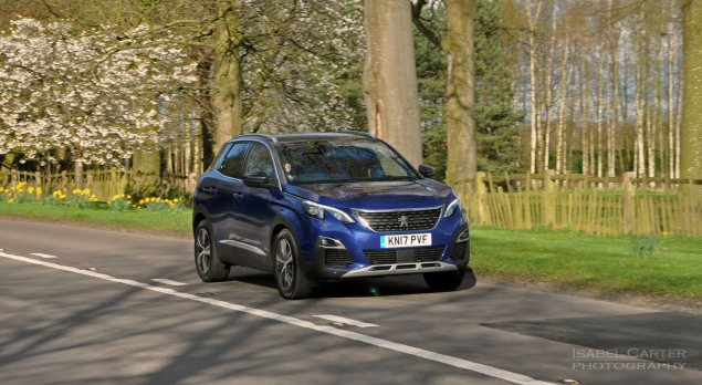 New-Peugeot-3008-crossover-SUV-road-test-review-1.2-petrol-manual-GT-Line-Magnetic-Blue-photo-03