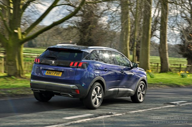 New-Peugeot-3008-crossover-SUV-road-test-review-1.2-petrol-manual-GT-Line-Magnetic-Blue-photo-05