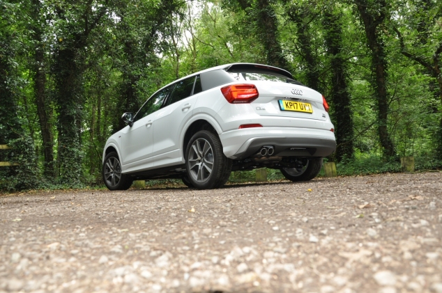 Audi Q2 2.0 TDI quattro S tronic 150PS road test review wallpaper gallery UK leasing deals offers PCH - Oliver Hammond rear 34