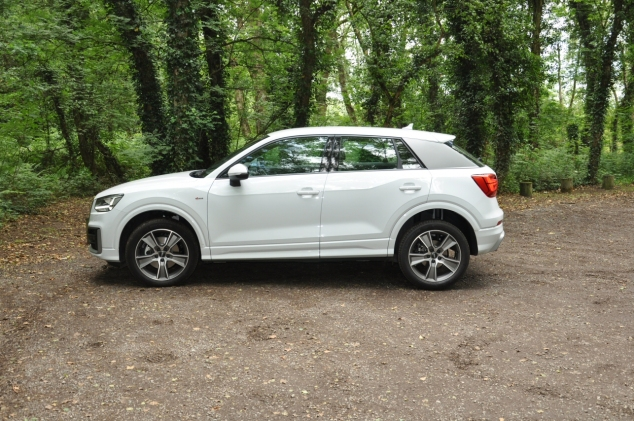 Audi Q2 2.0 TDI quattro S tronic 150PS road test review wallpaper gallery UK leasing deals offers PCH - Oliver Hammond side
