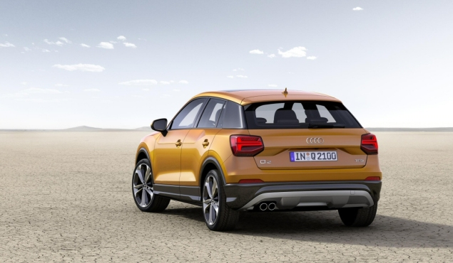 Audi Q2 2.0 TDI quattro S tronic 150PS road test review wallpaper gallery UK leasing deals offers PCH - rear orange