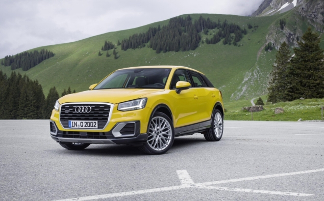 Audi Q2 2.0 TDI quattro S tronic 150PS road test review wallpaper gallery UK leasing deals offers PCH - yellow front