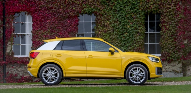 Audi Q2 2.0 TDI quattro S tronic 150PS road test review wallpaper gallery UK leasing deals offers PCH - yellow