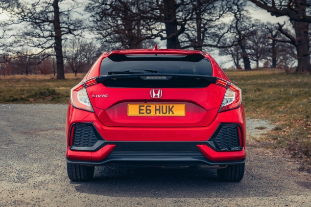 2017 Honda Civic 1.0 VTEC Turbo EX manual road test review - rear lights