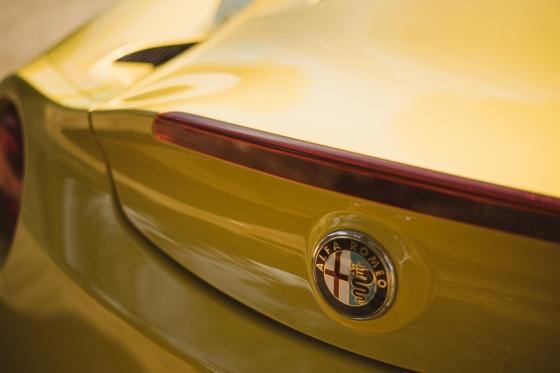 Alfa Romeo 4C review by Danni Bagnall motoring journalist writer - badge