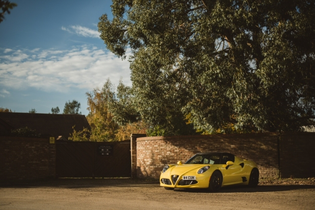 Alfa Romeo 4C review by Danni Bagnall motoring journalist writer - front 34