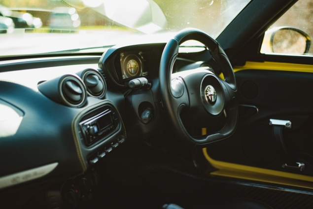 Alfa Romeo 4C review by Danni Bagnall motoring journalist writer - interior 1