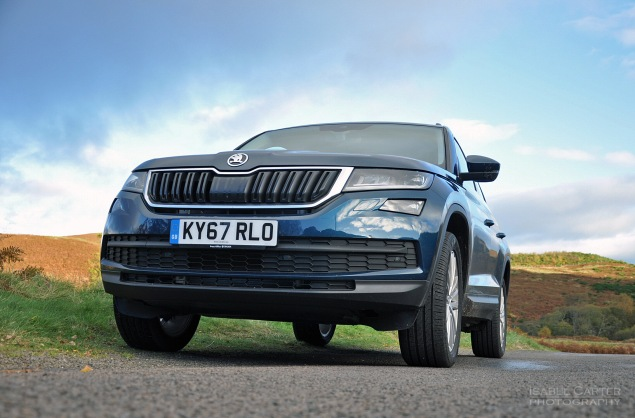 Skoda Kodiaq 4x4 7-seat SUV road test review UK - arty