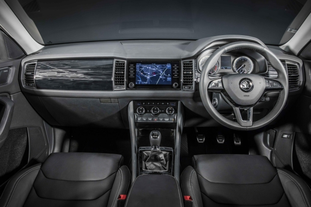Skoda Kodiaq 4x4 7-seat SUV road test review UK - dashboard