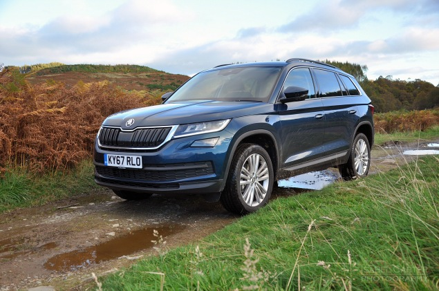 Skoda Kodiaq 4x4 7-seat SUV road test review UK - grass