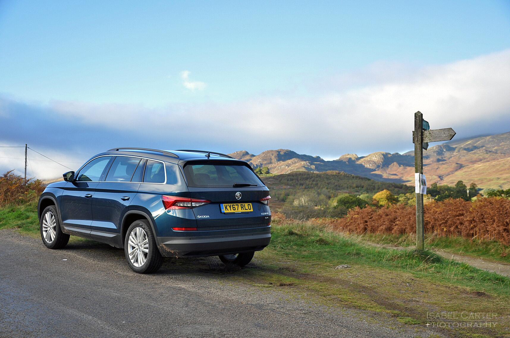 skoda kodiaq 4x4 7 seat suv road test review uk rear 34