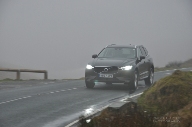 Oliver Hammond motoring blogger car reviews Petroleum Vitae blog - new Volvo XC60 D4 Momentum Pro - driving front 34a
