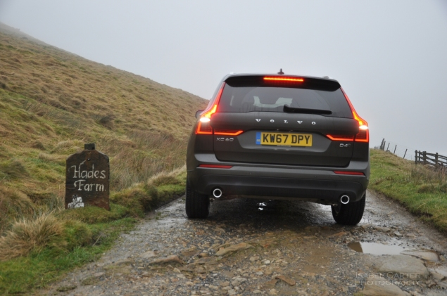 Oliver Hammond motoring blogger car reviews Petroleum Vitae blog - new Volvo XC60 D4 Momentum Pro - rear LED lights Hades farm