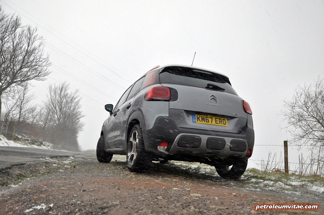 Exterior rear Grip Control off road - Citroen C3 Aircross compact small SUV crossover road test review 1.2 petrol Flair Oliver Hammond blogger writer journalist Petroleum Vitae