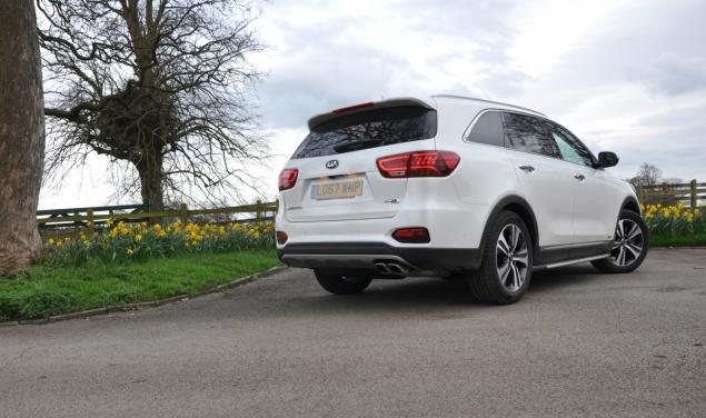2018 Kia Sorento GT-Line S road test review Oliver Hammond blogger writer rear
