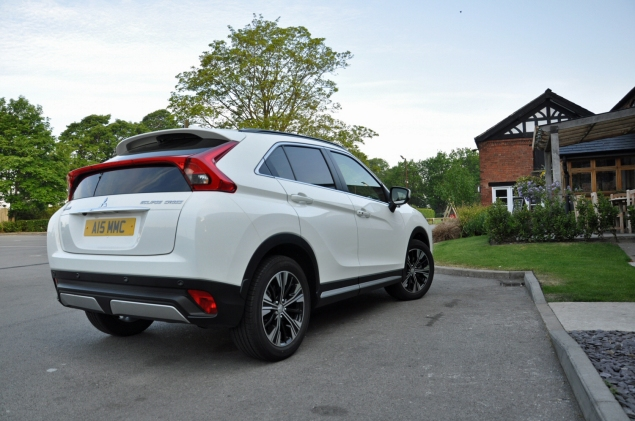 Mitsubishi Eclipse Cross 4 1.5 petrol manual 2WD road test review Oliver Hammond white rear
