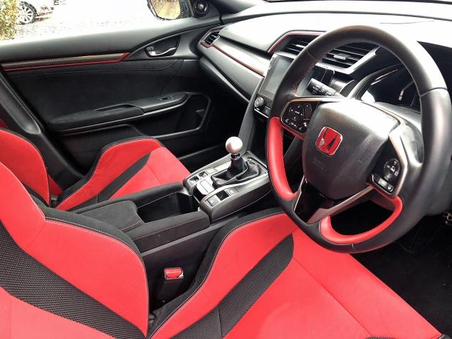 Danielle Bagnall Honda Civic Type R BTCC replica road test review journalist blog - interior red