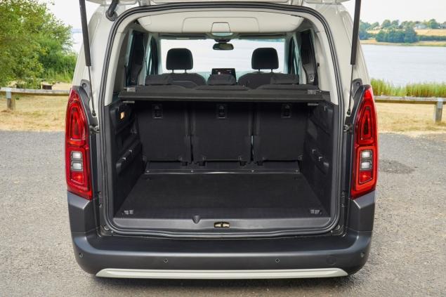 New Citroen Berlingo Multispace 1.5 HDi 100 M Feel diesel MPV road test review - interior boot space
