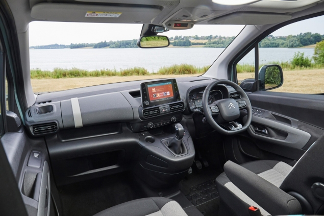 New Citroen Berlingo Multispace 1.5 HDi 100 M Feel diesel MPV road test review - interior front seats storage