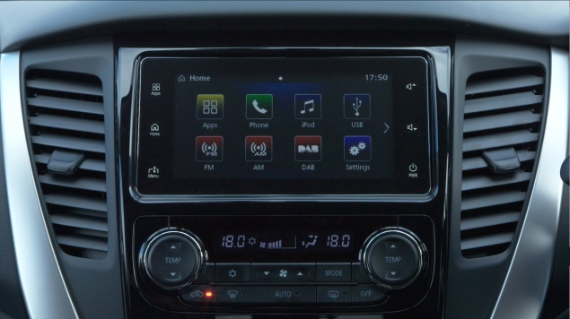 Mitsubishi Shogun Sport road test review Oliver Hammond - photo interior infotainment touchscreen