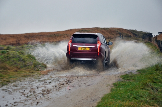 Mitsubishi Shogun Sport road test review Oliver Hammond - photo rear lights - photographer Isabel Carter