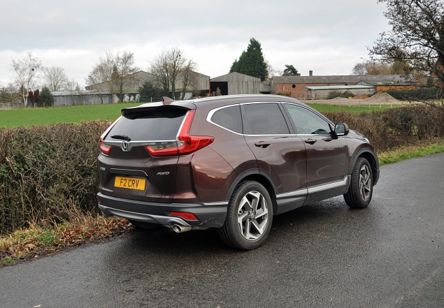 New Honda CR-V 2018 2019 UK road test review - rear 34