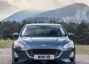 Front grille and headlights of new Ford Focus hatch 2018 2019