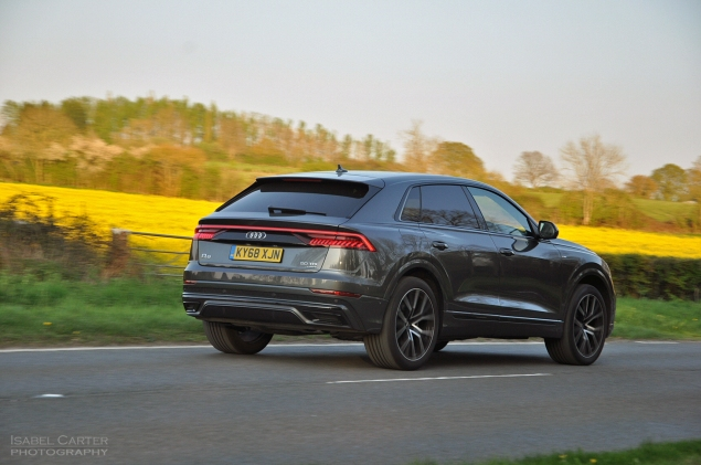 Audi Q8 SUV coupe crossover road test review - Oliver Hammond - dynamic rear light bar
