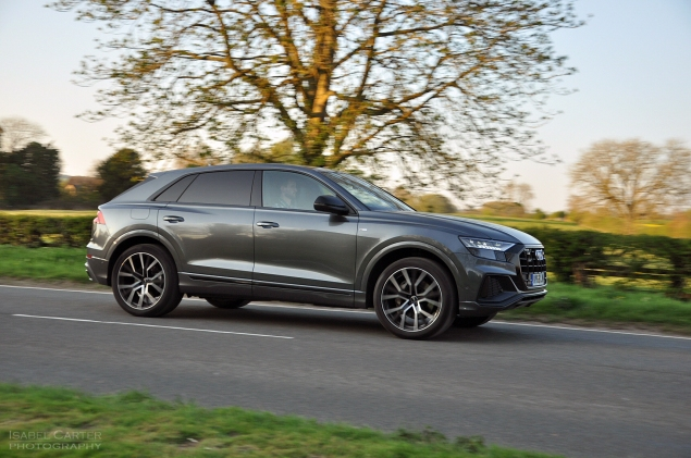 Audi Q8 SUV coupe crossover road test review - Oliver Hammond - exterior Daytona Grey alloys